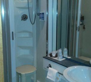 Dusche mit WC Hotel Medusa