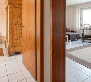 Schlafzimmer, Wohnzimmer Ferienwohnung Schau Rhein