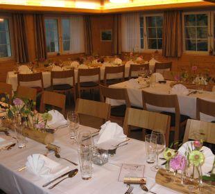 Unser gemütlicher Saal für tolle Familienfeste Hotel Waldgasthaus Lehmen