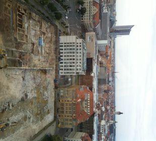 Von unserem ZImmer aus Richtung City Hotel The Westin Leipzig