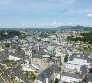 Blick von der Salzburger Burg Hotel Zinnkrügl