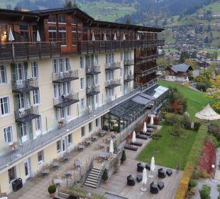 Blick auf den Haupttrakt  Lenkerhof gourmet spa resort