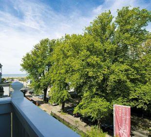 Blick vom Balkon 2.Etage KurparkHotel Warnemünde
