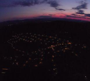 Langdorf in der Dämmerung (mit Drohne) Sonnenhotel Eichenbühl