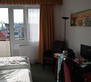 Unser Zimmer am Morgen Hotel John Brinckman