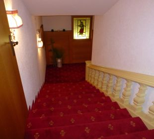 Treppenaufgang Gasthof Romantik Krone
