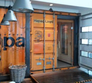 Im Container ist sie 25hours Hotel HafenCity