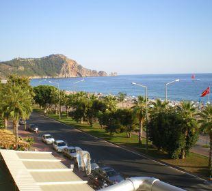 Ausblick vom Balkon Hotel Kleopatra Celine