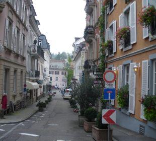 Merkurstraße  in Richtung Altstadt Hotel Merkur