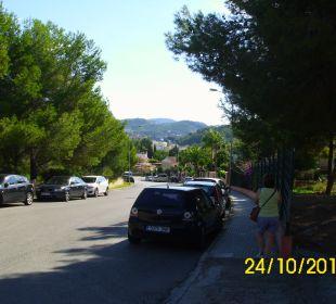 Diese Strasse führt runter nach Paguera Hotel Don Antonio