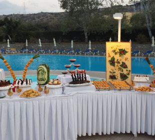 BBQ, schön dekoriert! Hotel King Minos Palace