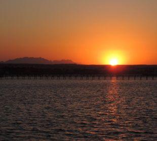 Blick zum Sonnenuntergang