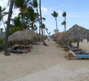 Zwei Reihen am Strand VIK Hotel Cayena Beach Club