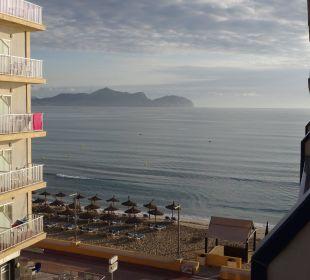 Morgendlicher Ausblick vom Balkon JS Hotel Horitzó