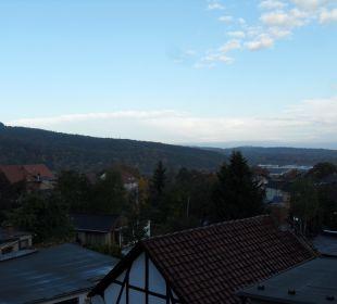 Unser Blick von unserem Zimmer Hotel Villa Alice