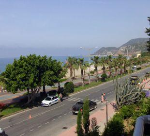 Blick vom Balkon Hotel Kleopatra Celine