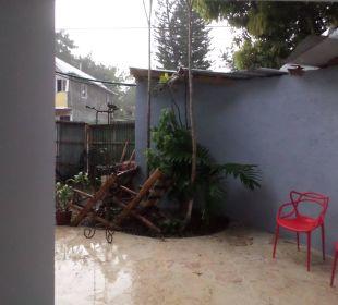 Regentag auf eigener Terrasse