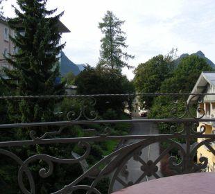 Blick vom Balkon zur Stadmitte Hotel Pension Erika