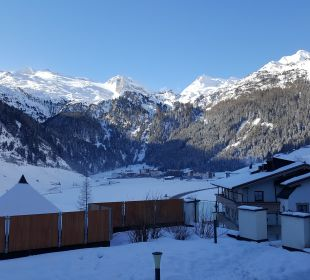 Ausblick Gletscher  Hotel Klausnerhof