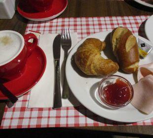 Frühstück am 1. Tag ENZIANA Hotel Vienna