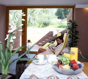 """Entspannen im Wellnessstübele """"Frauenschuh"""" Naturpark Hotel Stefaner"""