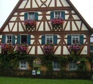 Blick auf das Haupthaus Ferienhof Eulennest