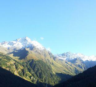 Ausblick vom Balkon Alpengasthof Pension Praxmar