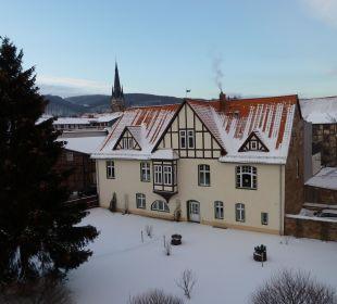 Ausblick vom Schlafzimmer Apart Hotel Wernigerode