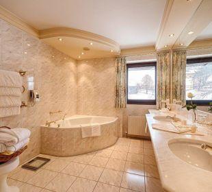 Badezimmer der Panoramasuite Hotel Pulverer