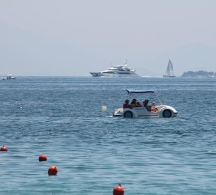 Blick Richtung Korfu Stadt Hotel Elea Beach