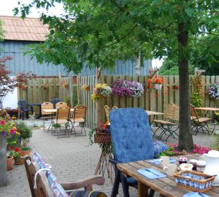 Innenhof Bed & Breakfast Storchennest