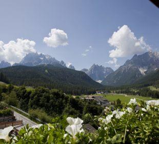 Balkonblick Sommer Biovita Hotel Alpi