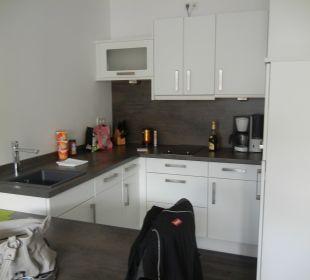 Einbauküche und Esstisch Aparthotel Duhner Strandhus
