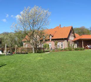 Blick auf das alte Gebäude Familotel Landhaus Averbeck