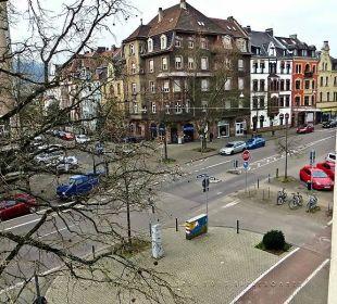 Blick aus dem Zimmerfenster in Richtung Altstadt Hotel Kaiserhof