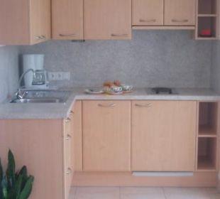 Landhauswohnung Küchenecke Appartement & Weingut Linter