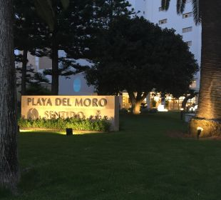Außenschild SENTIDO Playa del Moro