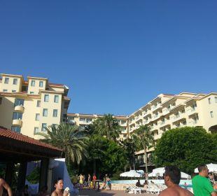 Außenansicht vom Pool aus Club Sidera (Vorgänger-Hotel – existiert nicht mehr)