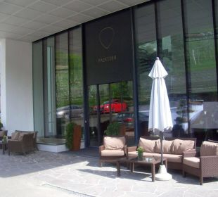 Hoteleingang Hotel Residenz Pazeider