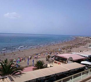 Blick von Terrasse Richtung Dünen Hotel Atlantic Beach Club