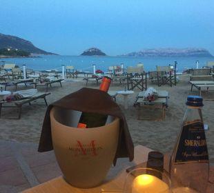 Ausblick vom Strandrestaurant Hotel Baia Caddinas