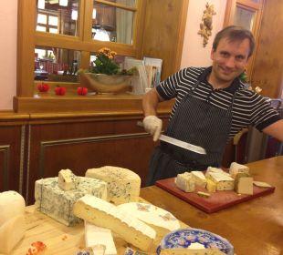 Käseauswahl zum Nachtisch Kneipp- und WellVitalhotel Edelweiss
