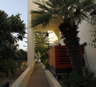 Zugangsweg zu den Zimmern Hotel Kalidon