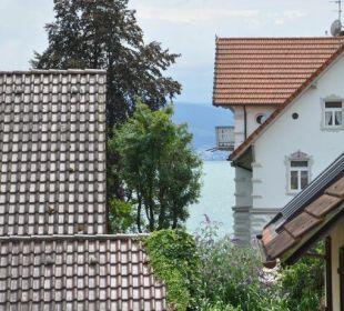 Seeblick vom Balkon Gästehaus Rosenhof