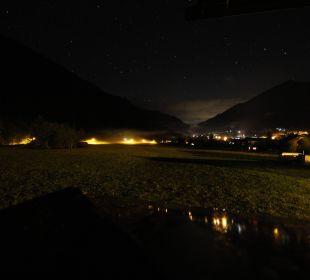 Nächtlicher Blick vom Hotelbalkon Landhaus Rudigier