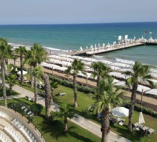 Plaża i amfiteatr - widok ze zjeżdżalni Bellis Deluxe Hotel