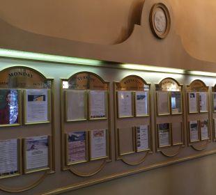 Das Board stammt noch vom Club Mediterranee Hotel Reine Victoria by Laudinella