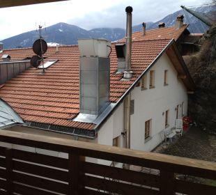 Abluftkamin direkt vor Zimmer 209 Hotel Alte Mühle