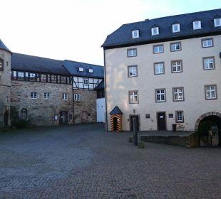 Innenhof Hotel Schloss Waldeck