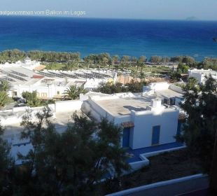Blick vom Balkon über die Anlage aufs Meer Hotel Lagas Aegean Village